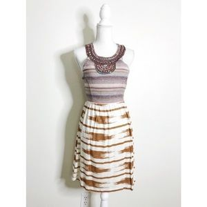 Lucky Brand Ikat Embellished Dress